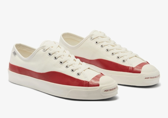 Pop Trading Company Adds Contrasting Overlays To The Converse Jack Purcell