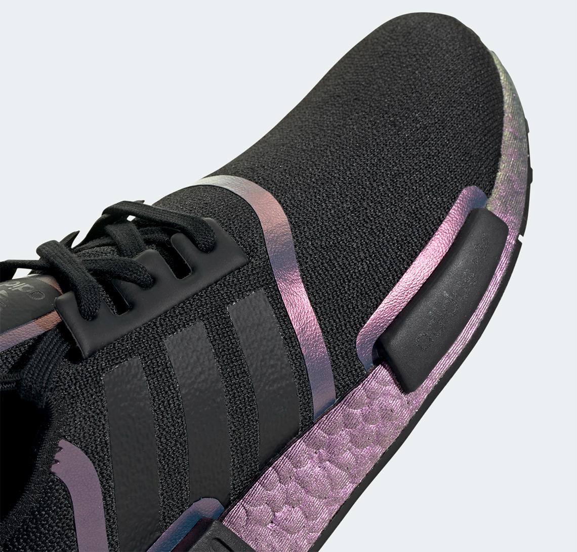 adidas nmd black purple