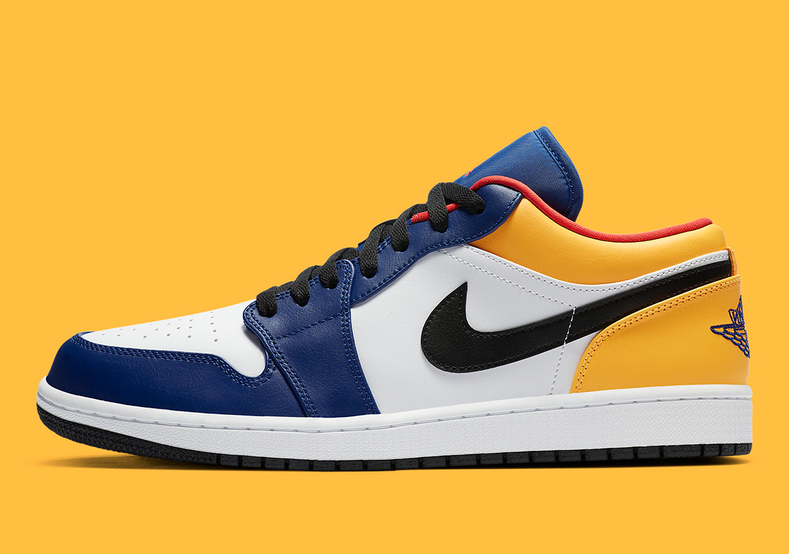 Air Jordan 1 Low Purple Yellow Release Info Sneakernews Com