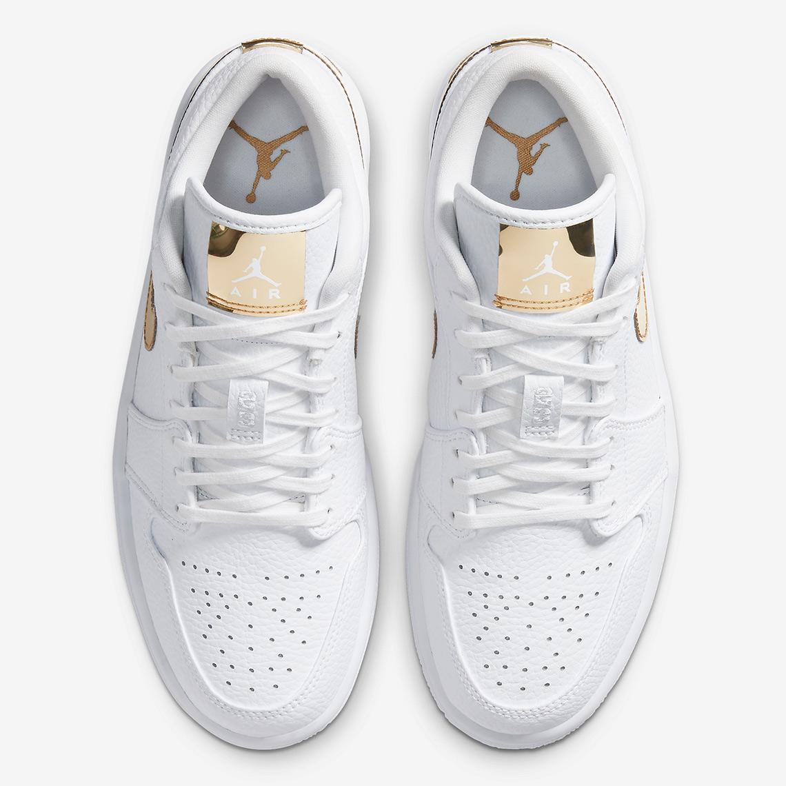 Air Jordan 1 Low White Metallic Gold CZ4776-100 ...