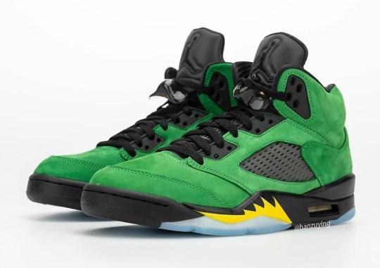 """Detailed Look At The Air Jordan 5 """"Oregon"""""""