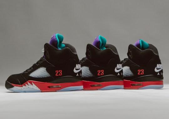 """The Air Jordan 5 """"Top 3"""" Releases Tomorrow"""