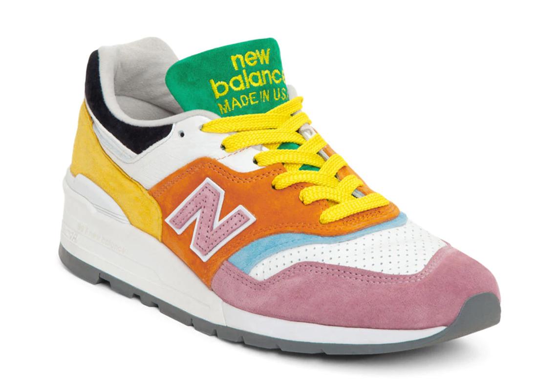 New Balance 997 Green Pink White