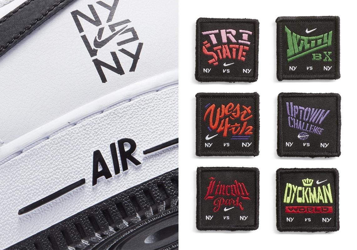 Nike Air Force 1 Low NY vs NY Blanc Noir 2020 Crumpe