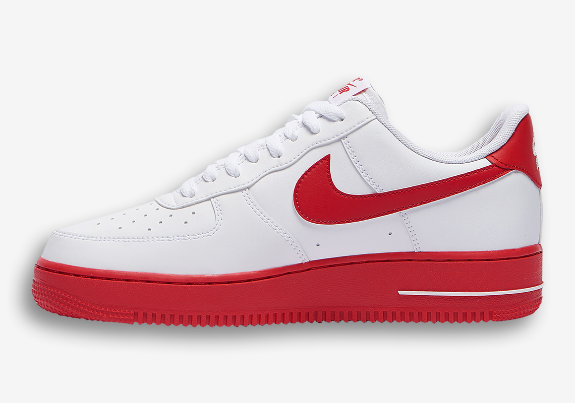impacto moneda Pelearse  Nike Air Force 1 Low Red Bottoms CK7663-102 | SneakerNews.com