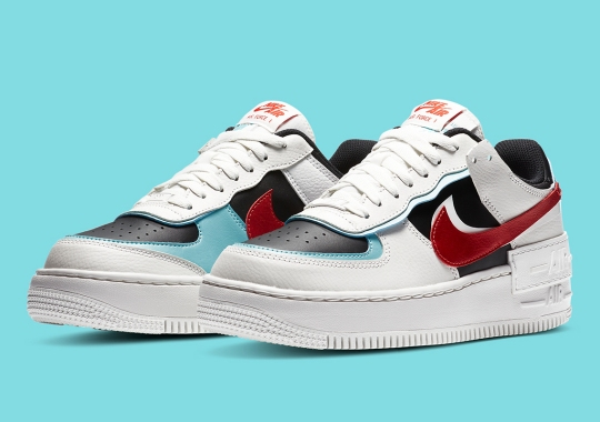 Nike Air Force 1 Low Shadow Is Here In Bleached Aqua And Chile Red