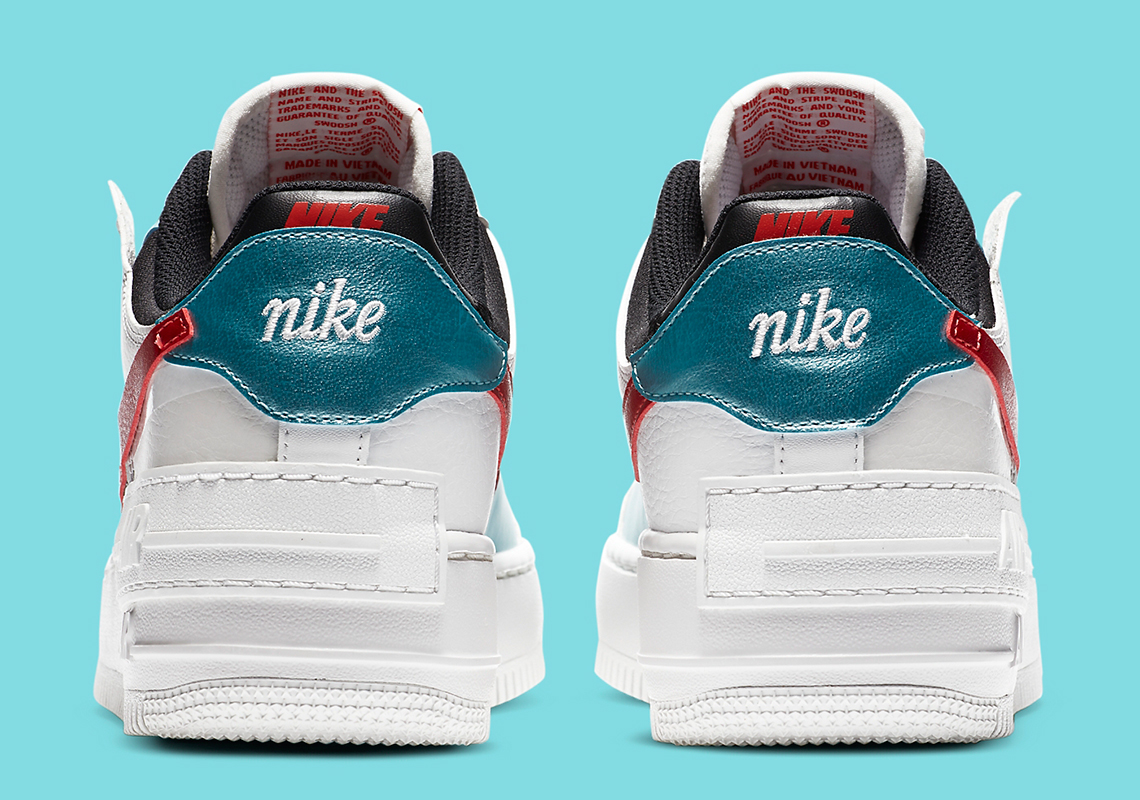 Nike Air Force 1 Shadow White Red Da4291 100 Sneakernews Com Nike is rolling out a newly designed silhouette titled the air force 1 shadow. nike air force 1 shadow white red