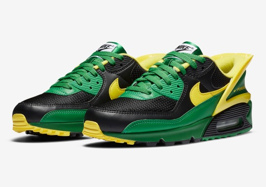 """The Nike Air Max 90 FlyEase Is Dropping Soon In """"Oregon Ducks"""" Colors"""