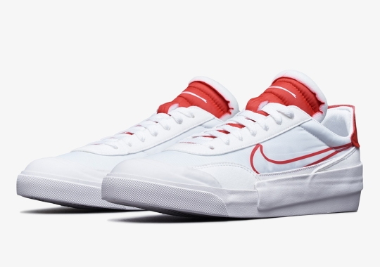 The Nike Drop-Type HBR Surfaces In A Clean White And University Red Colorway