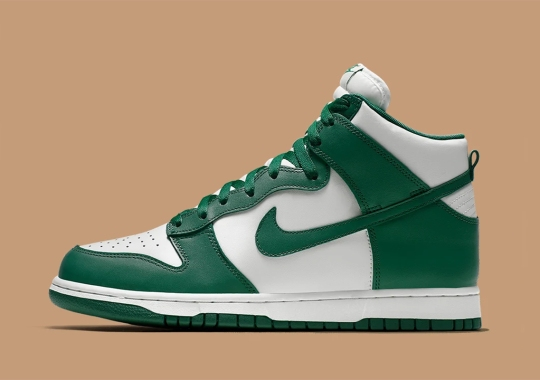 The Nike Dunk High Pro Is Dropping In Green And White In 2021