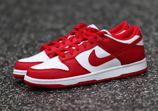 """The Nike Dunk Low SP """"University Red"""" Releases Tomorrow"""
