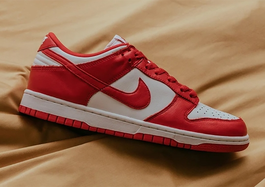"""The Nike Dunk Low """"University Red"""" Releases Tomorrow"""