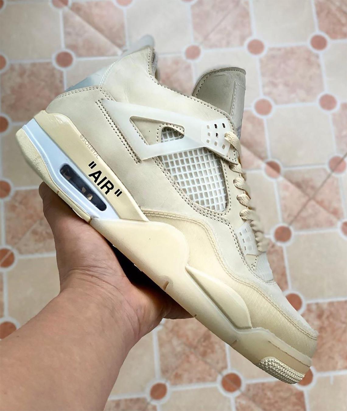 infraestructura parque principal  Off-White Air Jordan 4 Sail CV9388-100 | SneakerNews.com