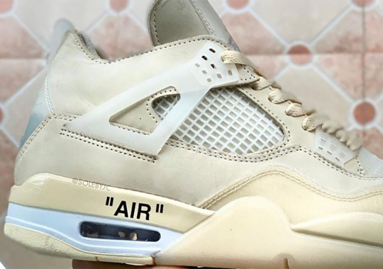 "The Off-White x Air Jordan 4 ""Sail"" Release Date Is Revealed"