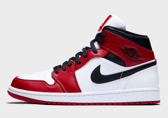 """A True """"Chicago"""" Colorway Appears On The Air Jordan 1 Mid"""