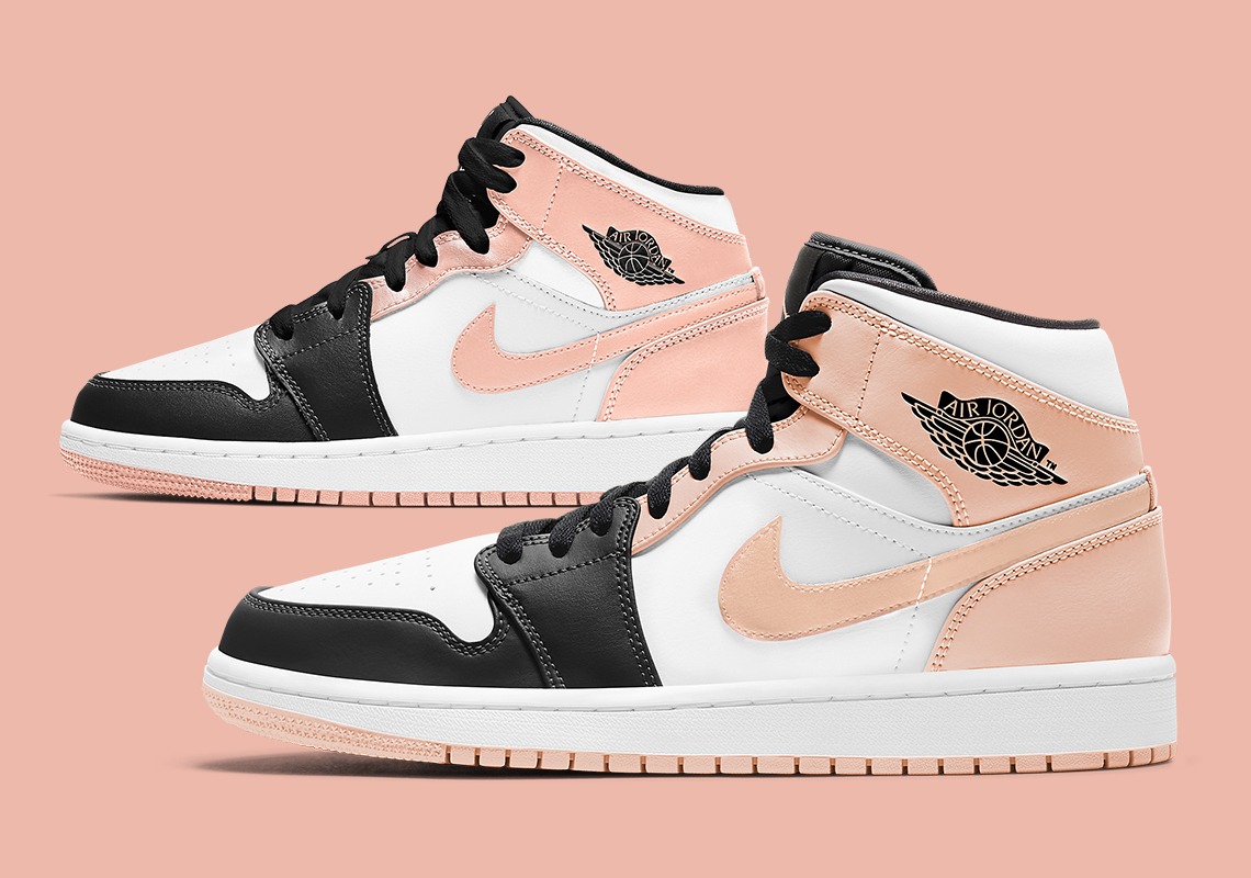 "Air Jordan 1 Mid ""Crimson Tint"" Coming Soon For Adults And Kids"