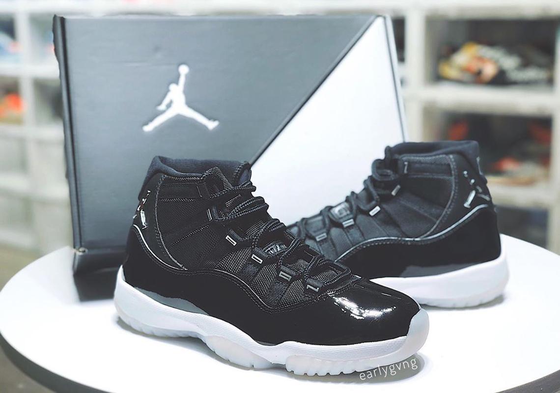 Air Jordan 11 Jubilee Black Silver