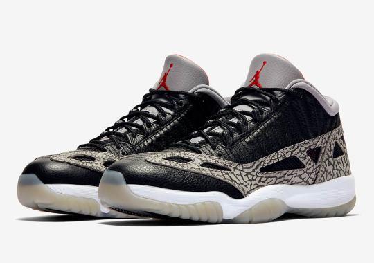 "The Air Jordan 11 Low IE Returns In ""Black Cement"""