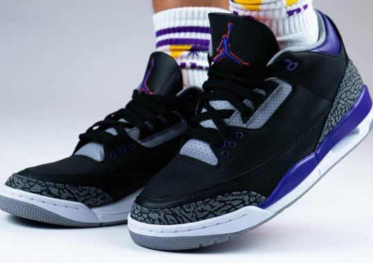 "On-Foot Look At The Air Jordan 3 ""Court Purple"""