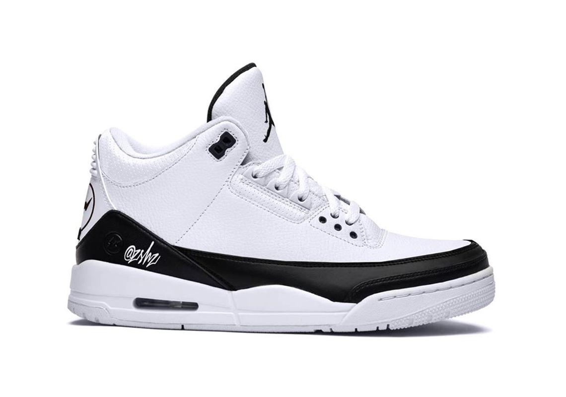 Fragment Air Jordan 3 White Black
