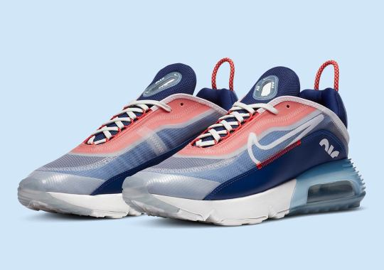The Nike Air Max 2090 Appears In Child Red And Deep Royal Blue