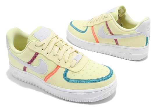 "Nike Brings Back The ""Inside Out"" Look To This Womens' Air Force 1 Low ""Life Lime"""
