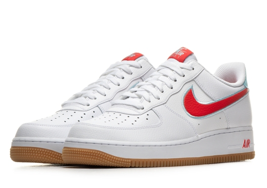 The Nike Air Force 1 Pairs Gum Soles With Hot And Cold Detailing