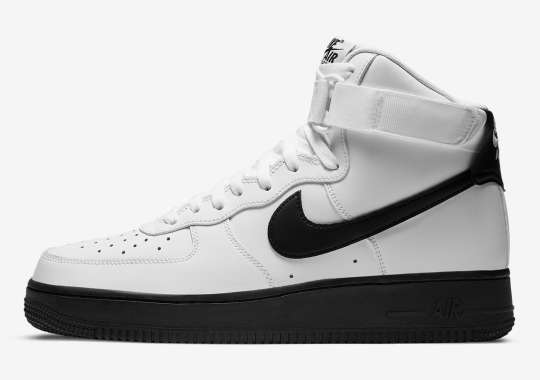 This Nike Air Force 1 High Gets A Solid Black Sole