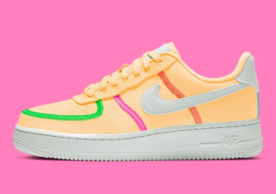 The Women's Summer-Friendly Nike Air Force 1 LX Canvas Appears In Melon Tint