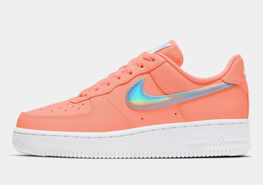 "The Nike Air Force 1 Low ""Atomic Pink"" Arrives With Iridescent Swooshes"