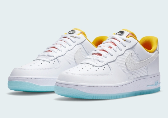 Nike Adds Cracked Leather And TPU Tongues To This Women's Air Force 1