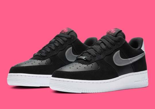 Pink And Silver Lands On This Nike Air Force 1 Low For Women