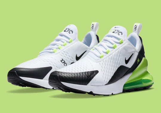 The Nike Air Max 270 Is Arriving Soon In The Simple White, Black, and Volt
