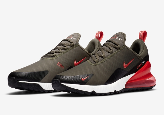 The Nike Air Max 270 Golf Shoe Appears In Hunter Ready Colors