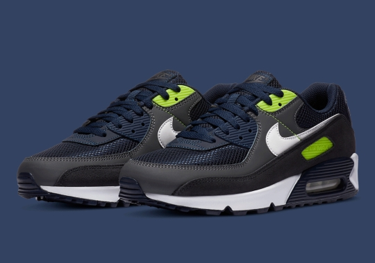 The Modern Seattle Seahawks Colorway Appears On The Nike Air Max 90