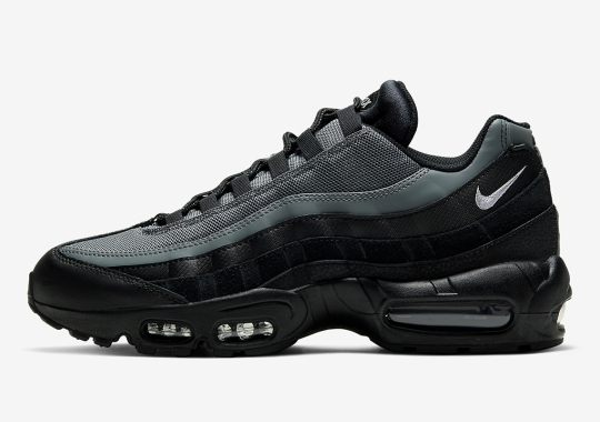The Nike Air Max 95 Arrives In Black And Smoke Grey