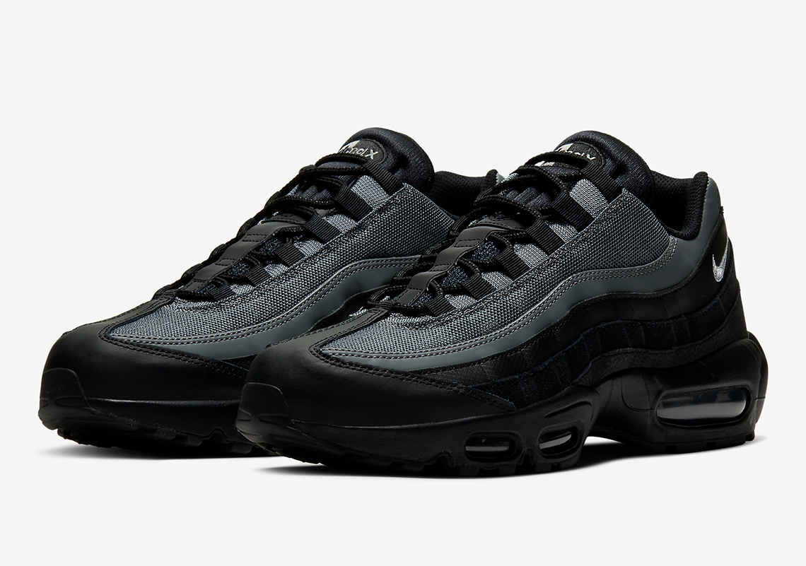 black and grey air max