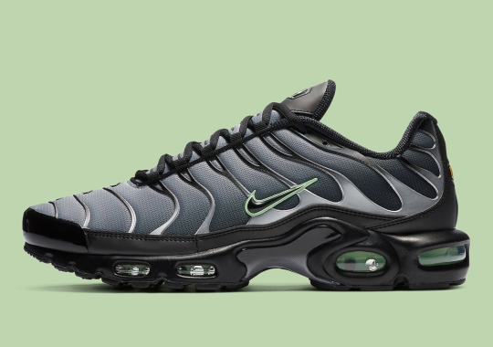 The Nike Air Max Plus Arrives In A Sharp Black And Minty Green