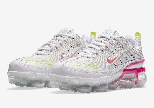 The Nike Air Vapormax 360 Accents Its Upper With Fire Pink And Volt