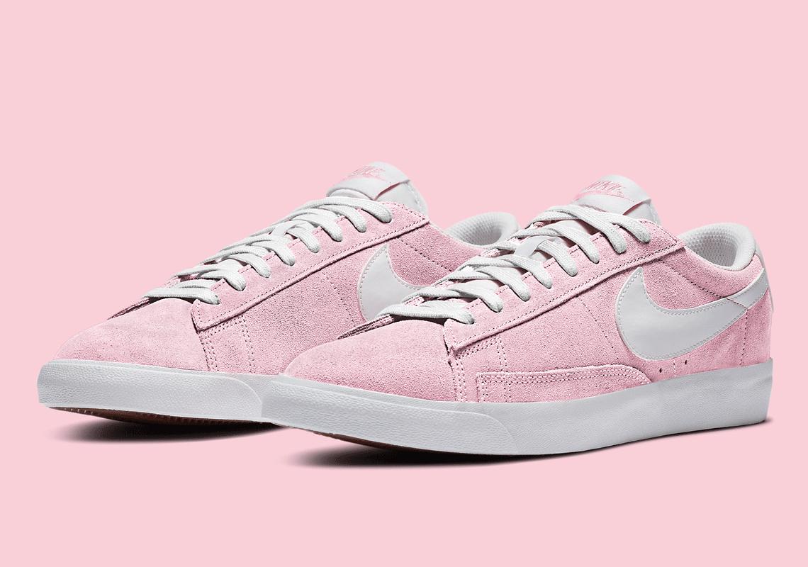Nike Blazer Low Pink White CZ4703-600 Release | SneakerNews.com