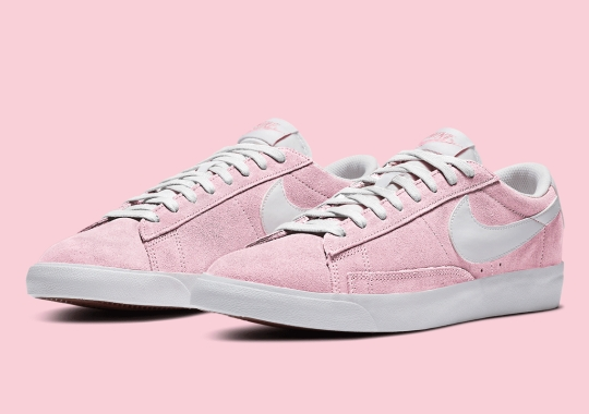 The Nike Blazer Low Appears In A Bright Bubble Gum Pink