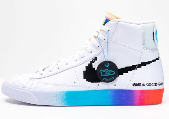 This Glow-In-The-Dark Nike Blazer Mid '77 Celebrates Classic Gaming Culture