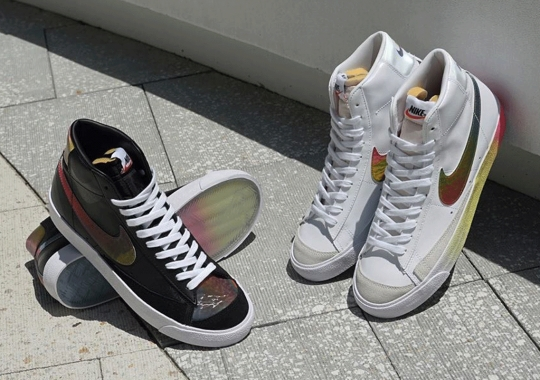 The Nike Blazer Mid '77 Gets Covered In 90s Friendly Thermal Colors