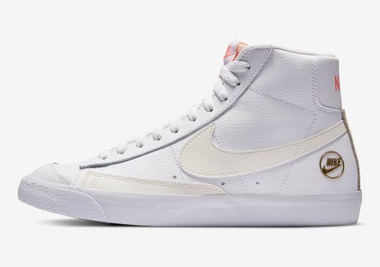 Nike Adds Golden Heel Emblems To The Blazer Mid '77
