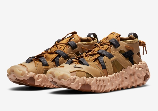 """Official Images Of The Nike ISPA Overreact Sandal """"Wheat"""""""