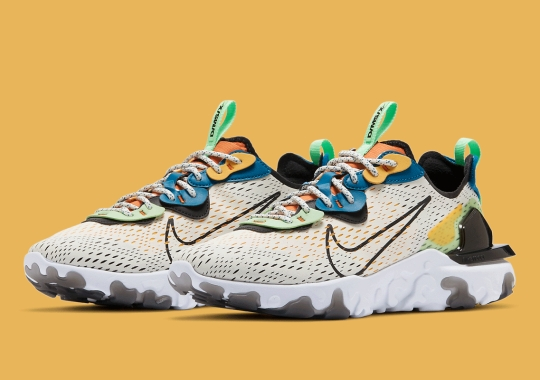 "Multi-colored Overlays Above ""Phantom"" Uppers Appear On This Nike React Vision"