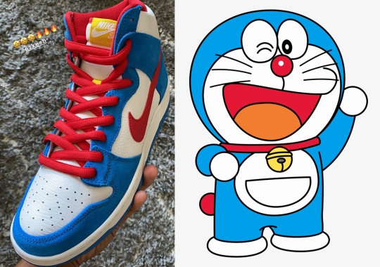 Kevin Perez Teases Early Glimpse At Doraemon-Inspired Nike SB Dunk High