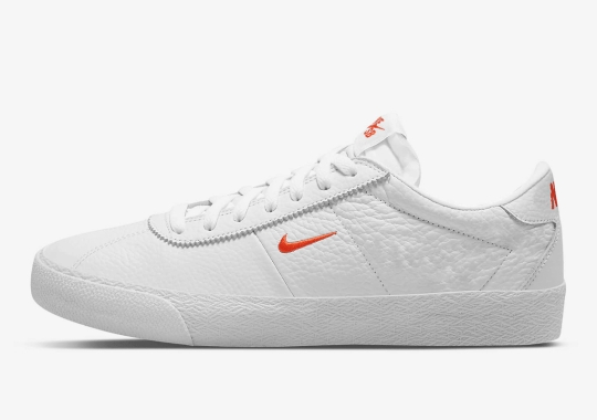 The Nike SB Zoom Bruin Is Now Available In White And Team Orange