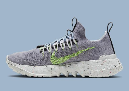 The Nike Space Hippie 01 Appears In Grey And Volt