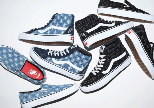 Supreme's First Vans Collaboration In 2020 Highlighted By Hole-Punched Denim